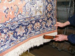 Endkontrolle Teppichreinigung