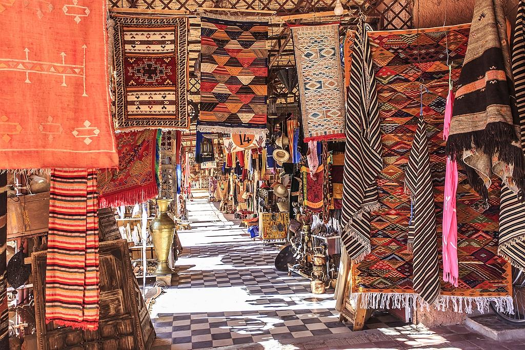 Teppich Basar im Maghreb