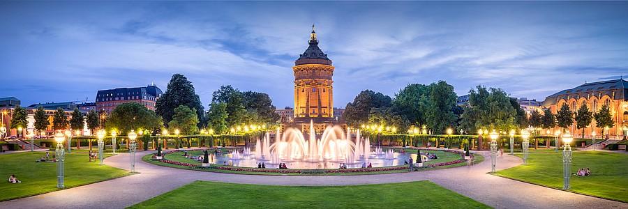 Bild Mannheim Rosengarten und Wasserturm