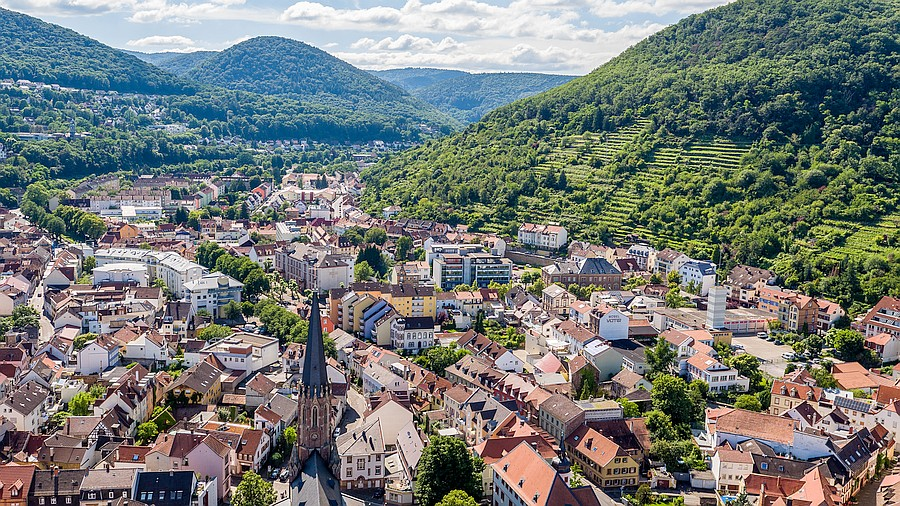 Panoramafoto Neustadt an der Weinstrasse, Rheinland-Pfalz
