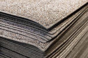 frisch gereinigte, saubere Fußmatten