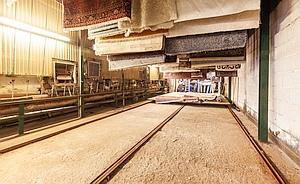 Trockenraum Jet Teppichwäsche, größte Teppichwäscherei Süddeutschlands