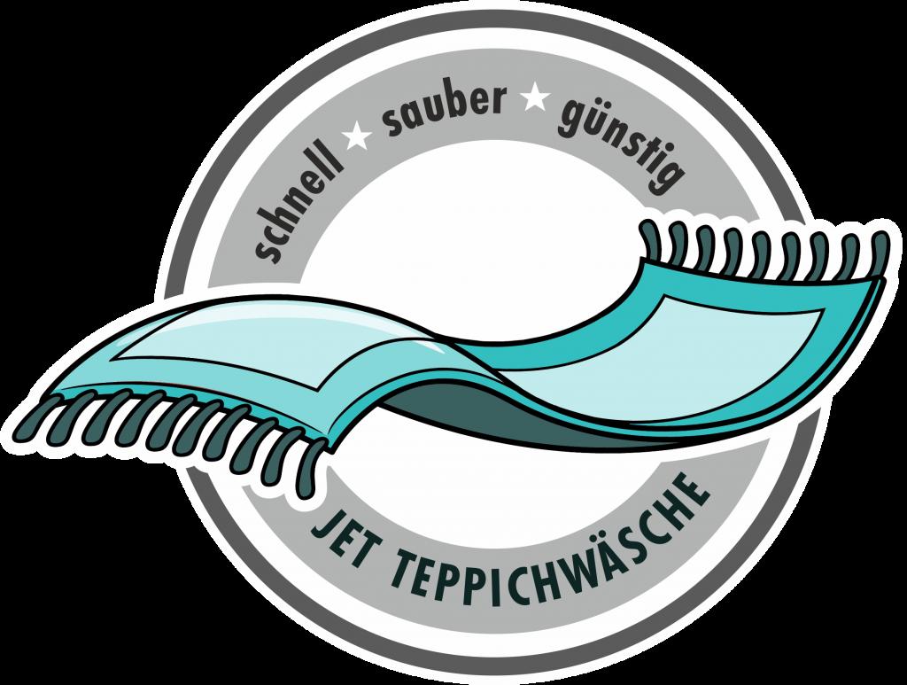 Fliegender Teppich, Symbol für Teppichwäsche schnell, sauber, günstig